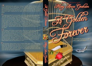 Click to view the full-sized paperback cover of <i>A Golden Forever</i>.