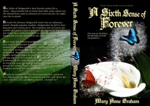 Click to view the full-sized paperback cover of <i>A Sixth Sense of Forever</i>.